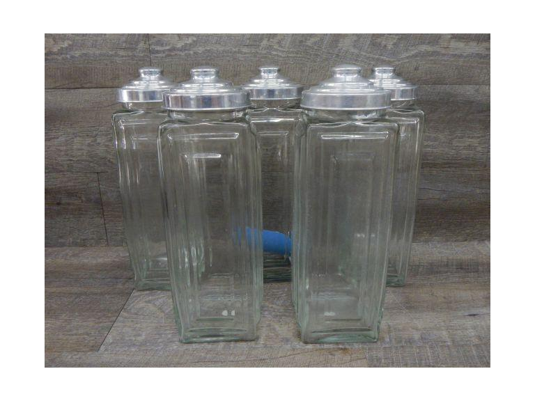 Collection of Tall Glass Canisters