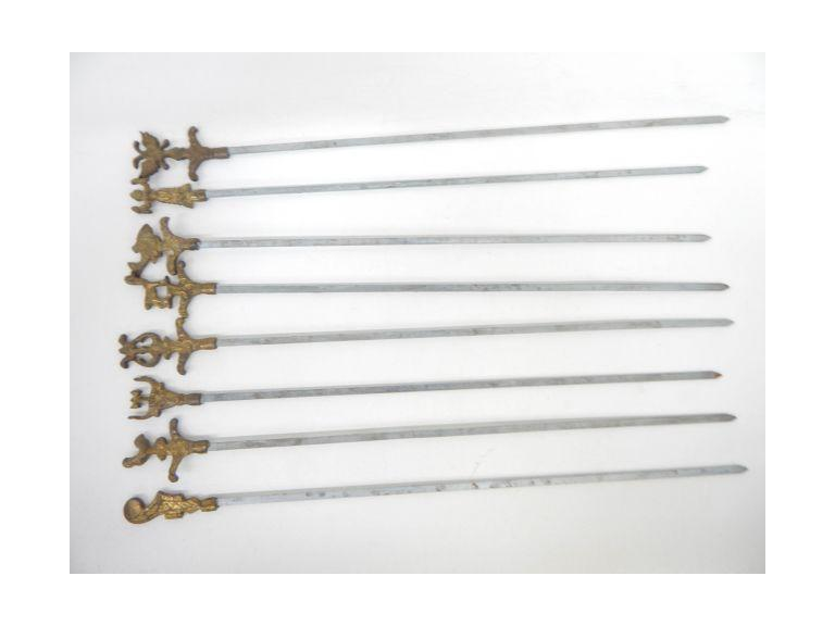 Collection of Ornate Brass Skewers