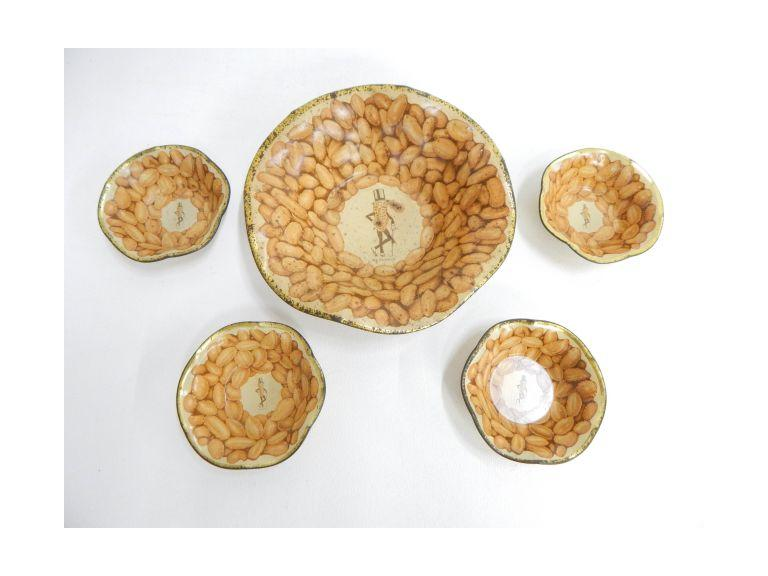 Planters Peanuts Metal Bowl Set