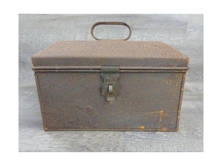 Old Steel Pressed  Steel Case