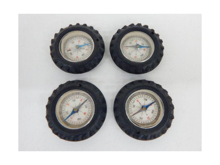 Vintage Rubber Tire Compasses