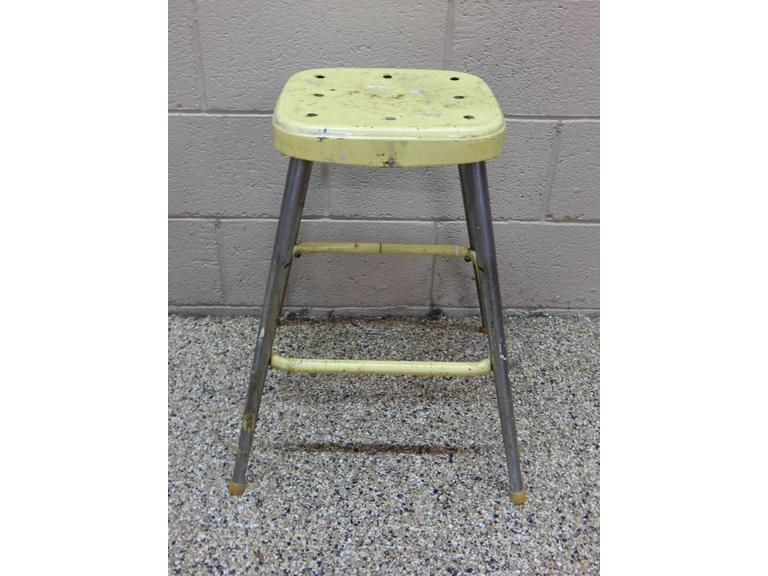 Vintage Steel Framed Stool
