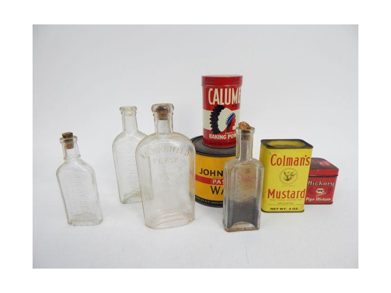 Antique Bottles and Old Tins