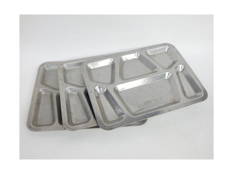 Vintage pressed Steel Lunch Trays