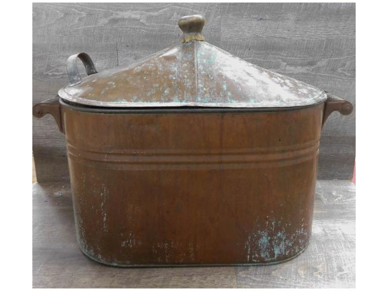 Vintage Copper Boiler with Lid