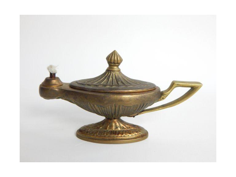 Solid Brass Oil Genie Lamp