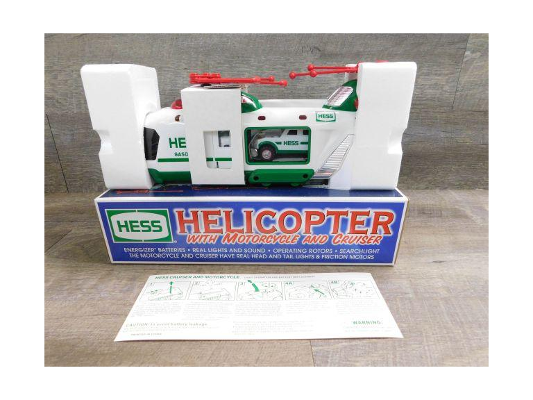 Hess Helicopter with Motorcycle and Cruiser