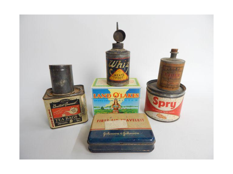 Collection of Old Advertising Tins