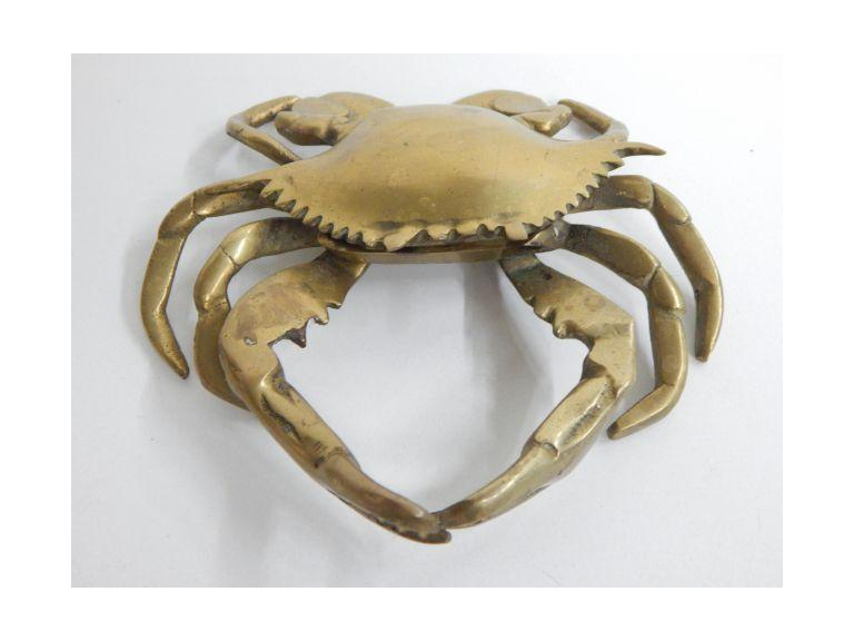 Vintage Brass Crab Ashtray