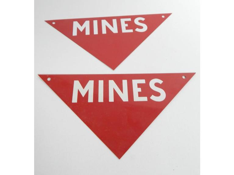 Tin Metal Mines Marker Signs