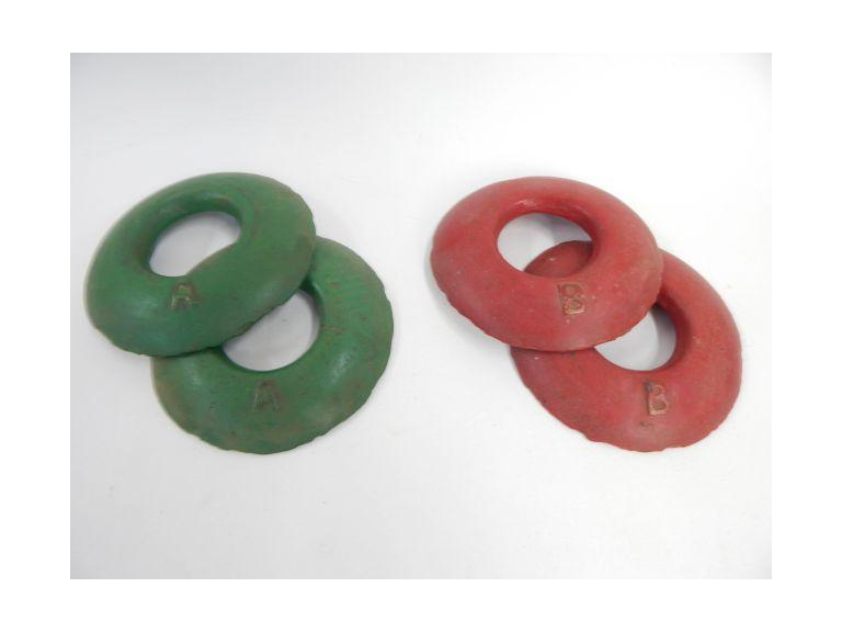 Vintage Cast Iron Quoits Throwing Discs