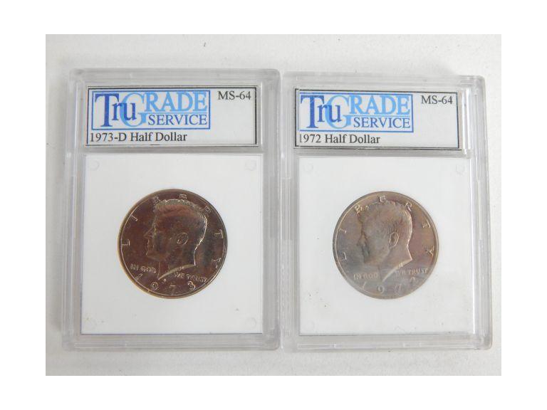 Graded Kennedy Half Dollar Coins