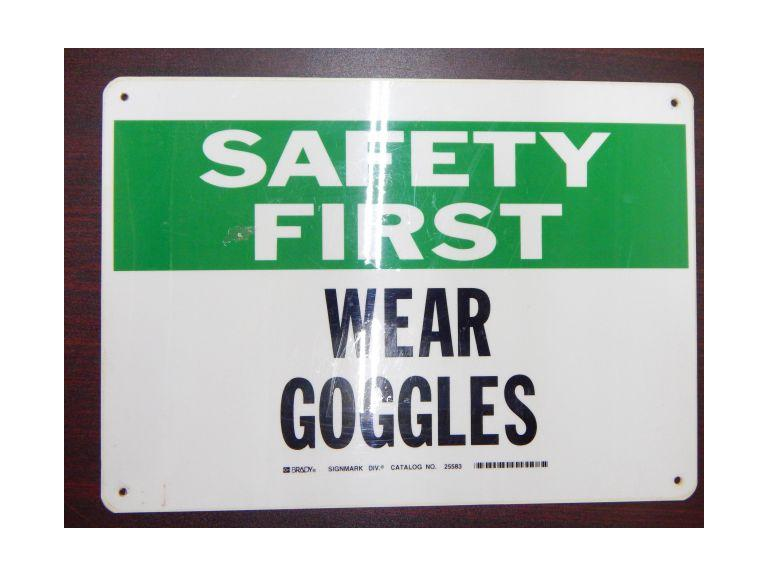Safety First Industrial Sign