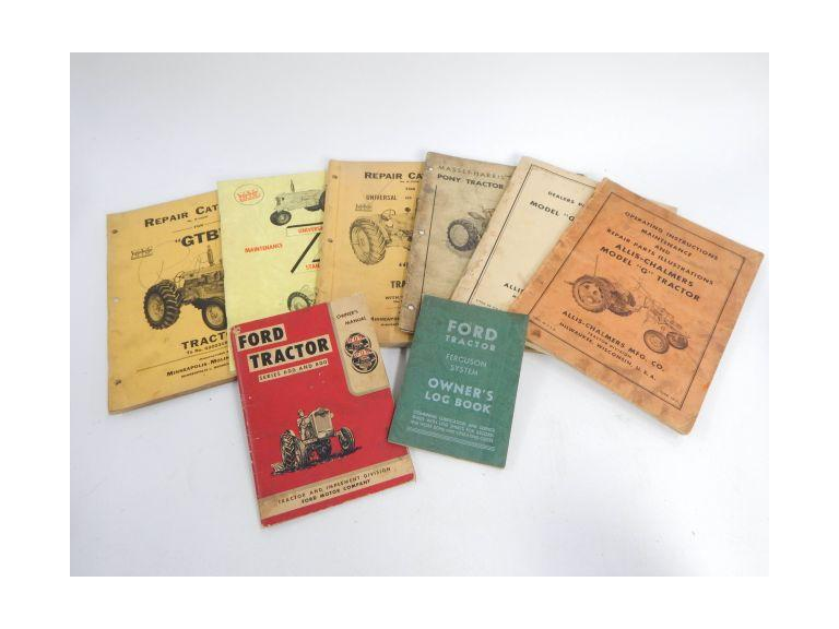 Collection of Old Tractor Parts & Repair Manuals