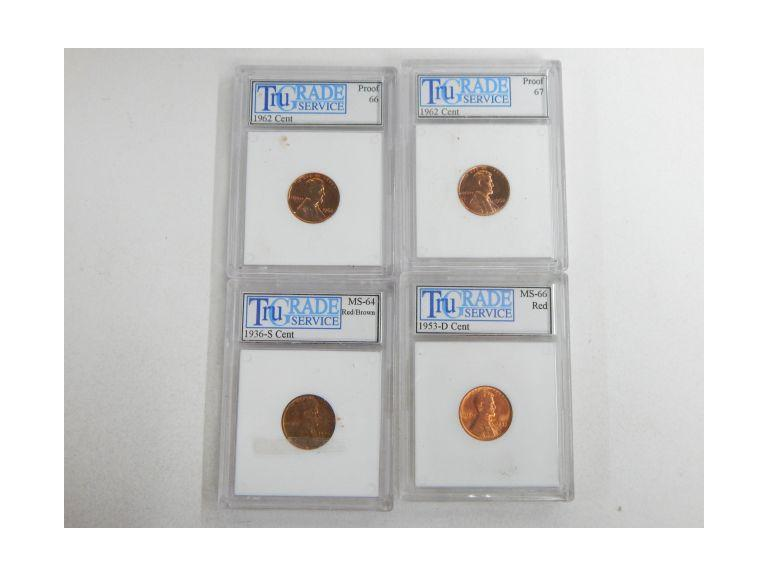 Collection of Graded Lincoln Pennies