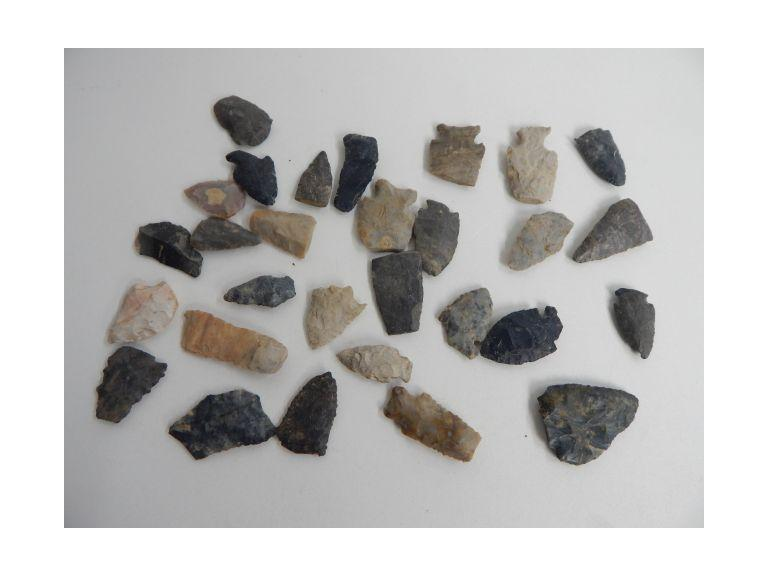 Collection of Flint Arrow Heads