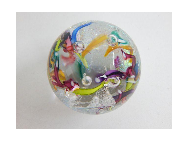 Glass Eye Studio Colorful Pattern Paperweight