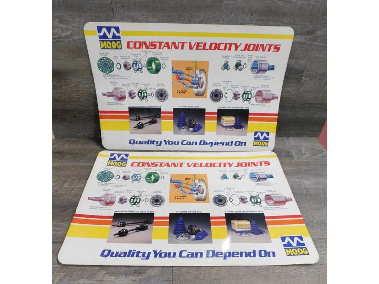 MOOG Auto Parts Store Counter Info Cards