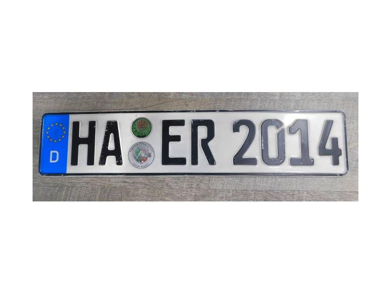 Germany License Plate #1