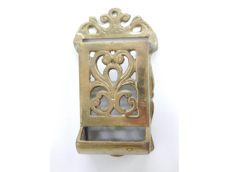 Solid Cast Brass Matchbox Holder