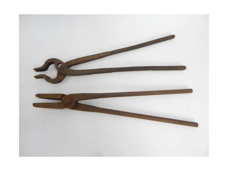 Pair of Wrought Iron Blacksmith Tongs