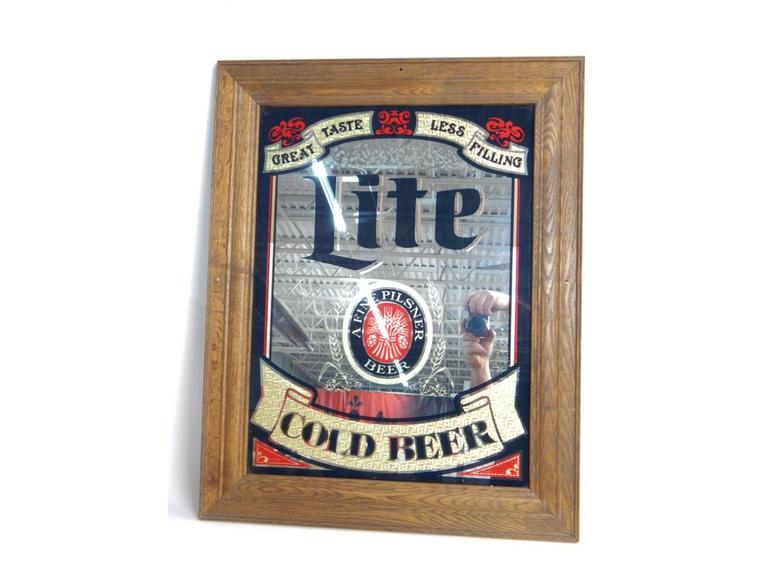 Lite Beer Mirrored Bar Sign