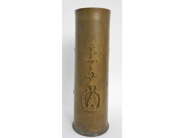 Large Brass Shell Casing Vase