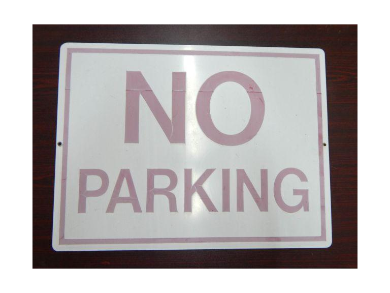 Large Metal No Parking Sign