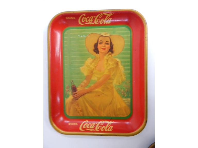 1938 Girl in Yellow Coca Cola Tray