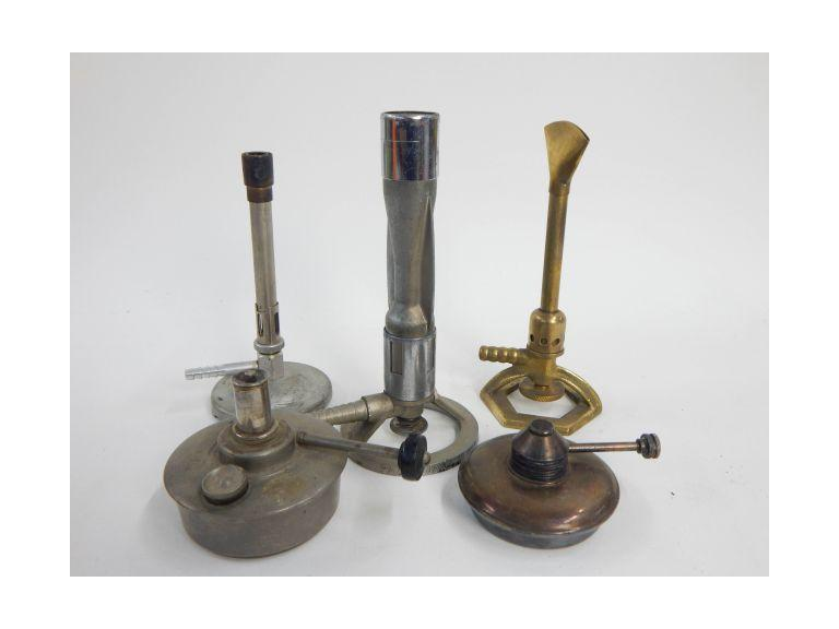 Collection of Old Laboratory Bunsen Burners
