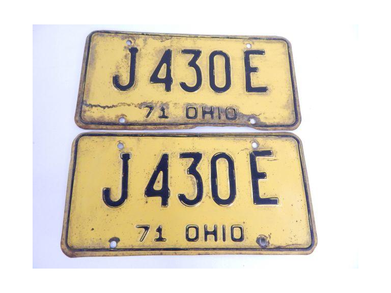 1972 Pair of Ohio License Plates