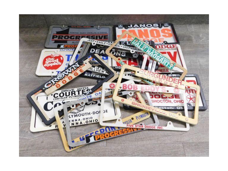 Vintage Dealership Vehicle Plate Frames