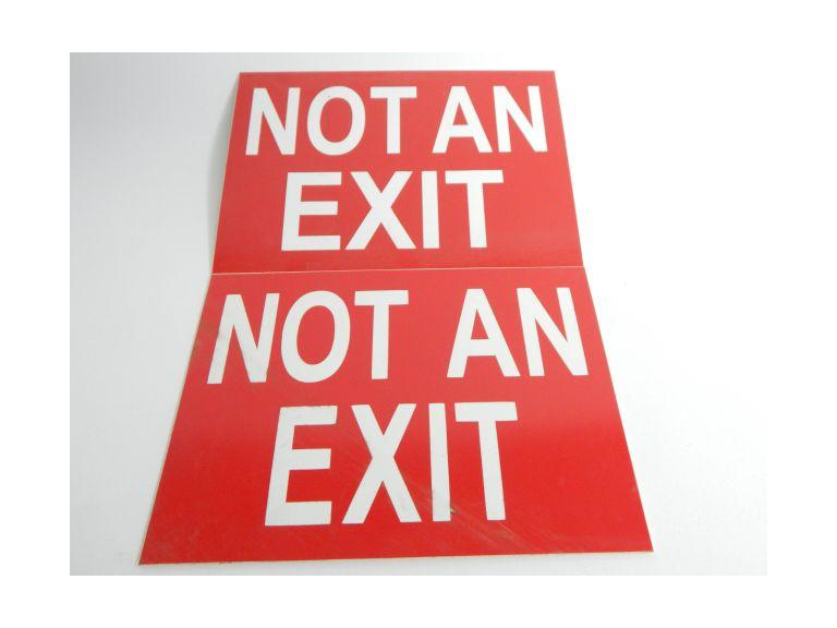 Pair of No Exit Plastic Signs