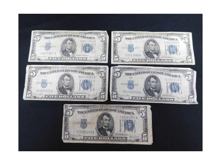 5 -- $5 Silver Certificates