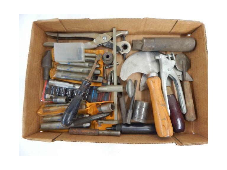 Collection of Leather Working Tools