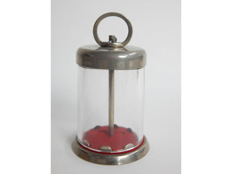 Vintage Glass Dome Coin Bank