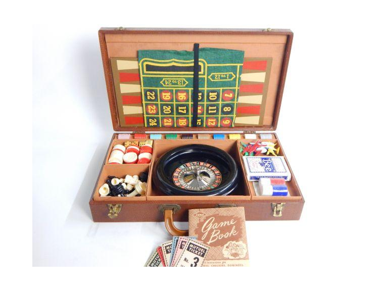 Vintage Lowe Co. Game & Gambling Set