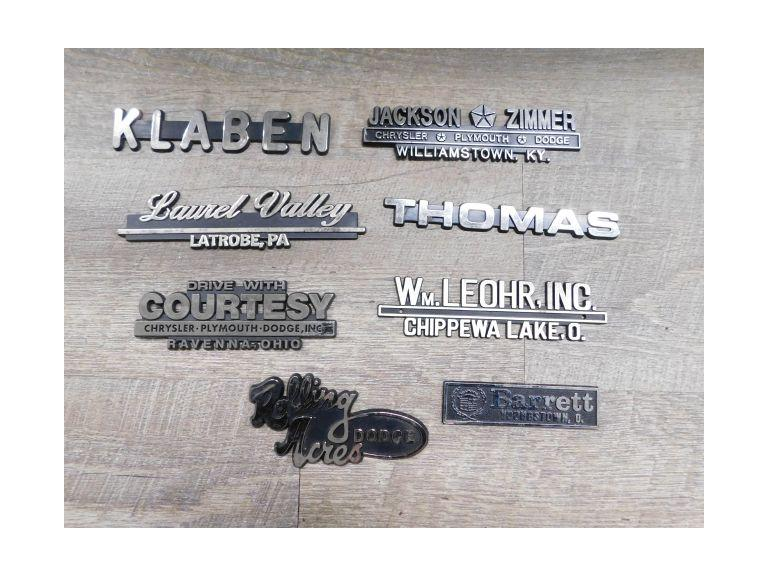 Vintage Dealership Vehicle Emblems