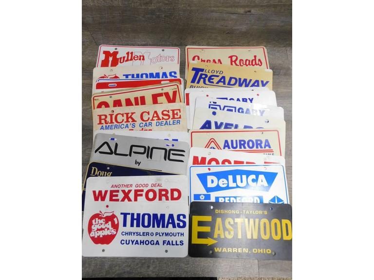 Vintage Dealership Vehicle Placards