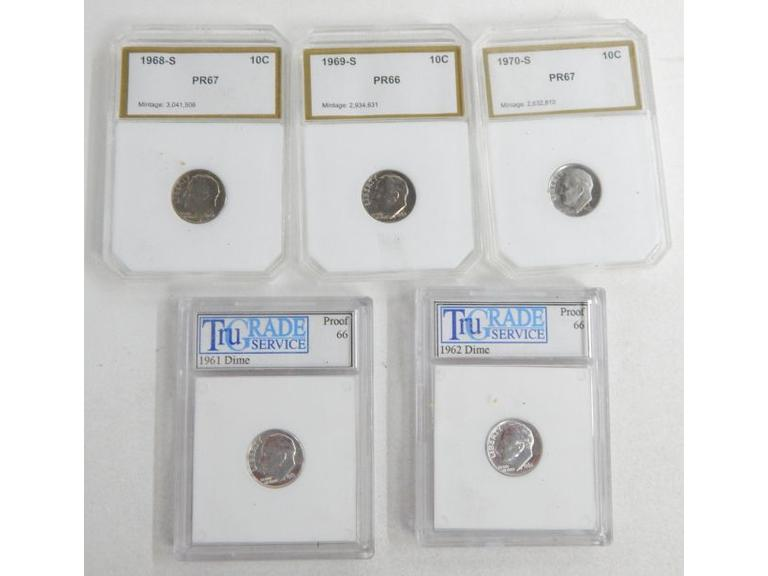 Proof Graded Dimes with Some Silver