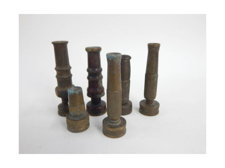 Collection of Brass Hose End Spouts