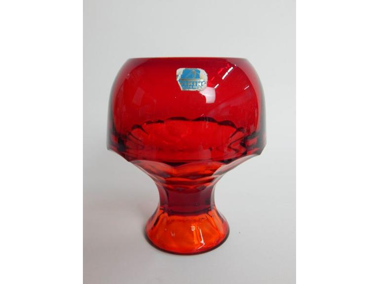 Viking Ruby Red Glass Compote
