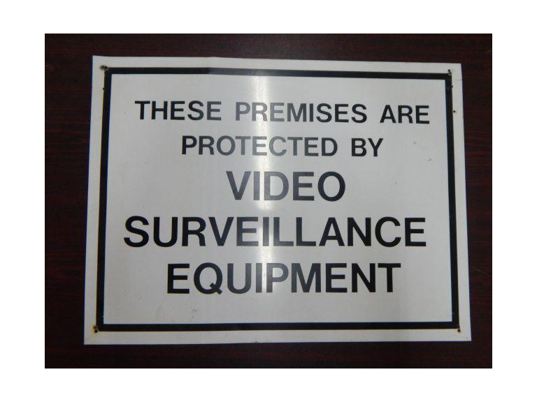Metal Video Surveillance Sign
