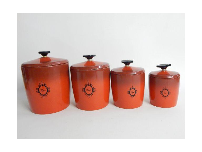 West Bend Retro Canister Set
