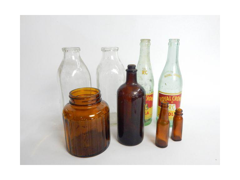 Collection of Old Glass Bottles