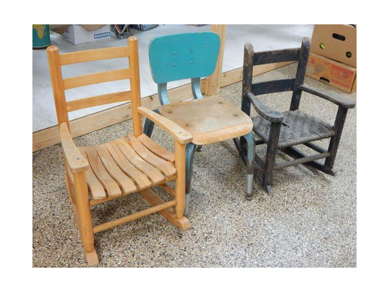 Collection of Vintage Children's Chairs