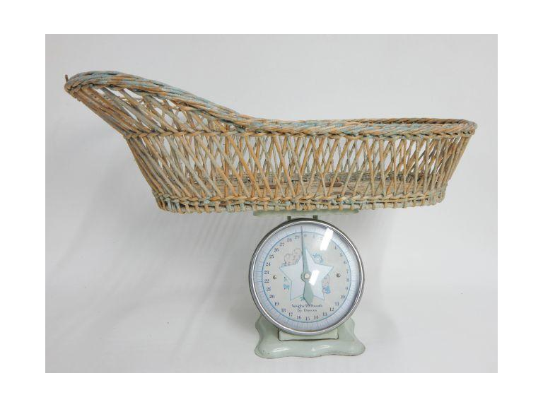 Vintage Baby Scale with Basket