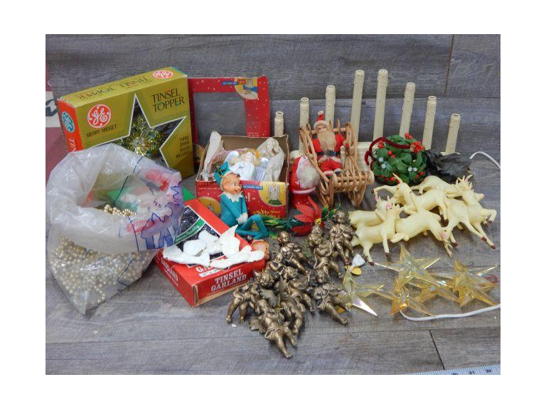 Christmas Décor Lot with Vintage