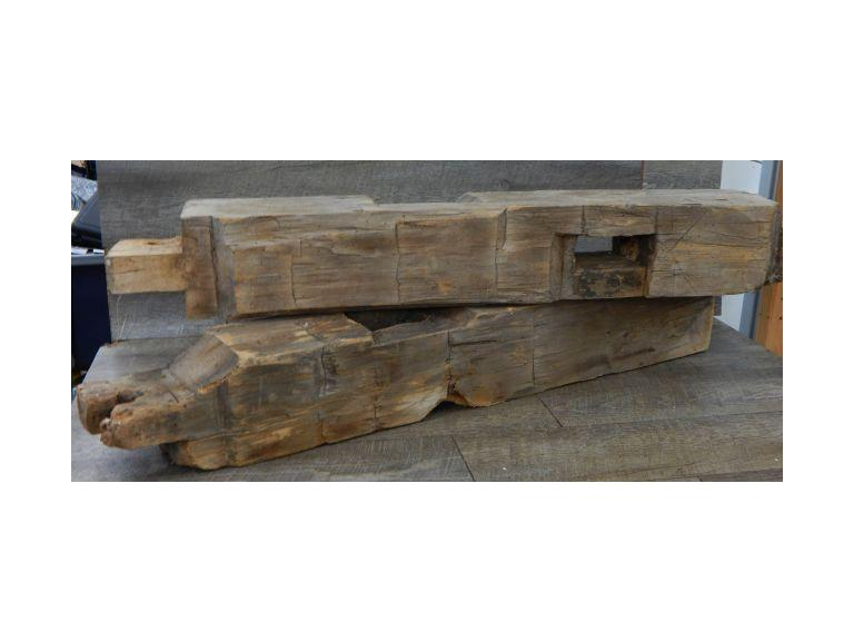 Antique 37'' long Hand Hewn Barn Beams