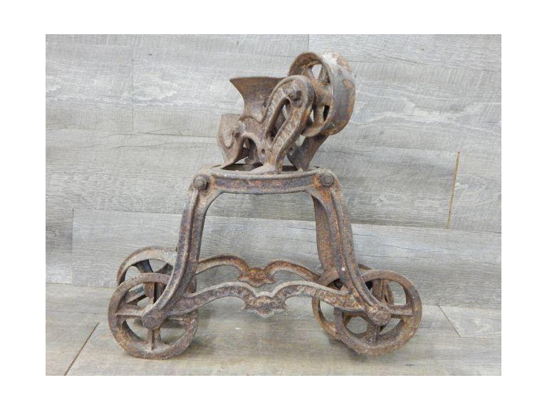 Antique Cast Iron Hay Trolley